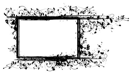 Inked Floral Frame for Your Text or Inked Floral Frame for Your Text or Pictures