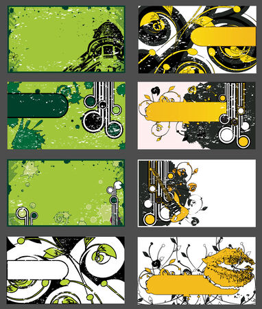 Set of Grungy Business Cards or Abstract Backgrounds