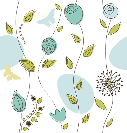 Seamless Floral Pattern Stock Vector - 6129123