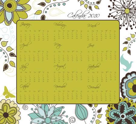 Floral Retro Calendar for 2010