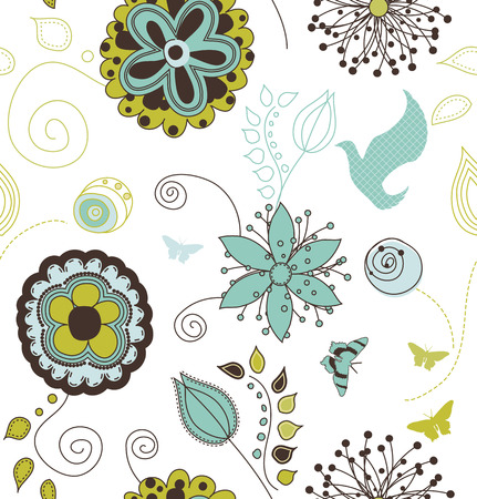 Seamless Nature Pattern Background Stock Vector - 6129136