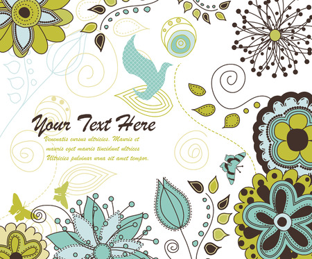A Floral and Nature Background for Your Text Stock Vector - 6129138