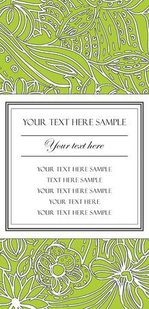 Beautiful Floral Card Stock Vector - 6129134