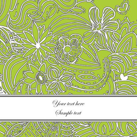 Beautiful Floral Greeting Card Stock Vector - 6128920