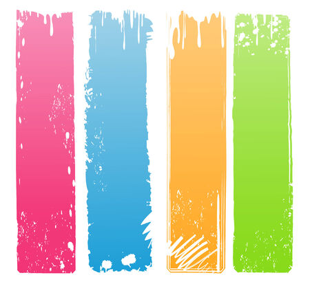 Collection of Vertical Grunge Banners in Modern Colors