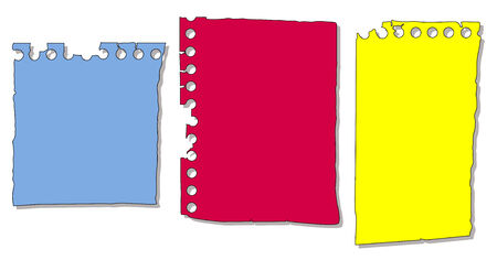 Set of Torn Paper from a Notepad Stock Vector - 6129121