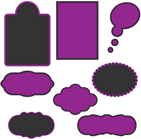 Variety of Frames for Your Text Stock Vector - 6129120