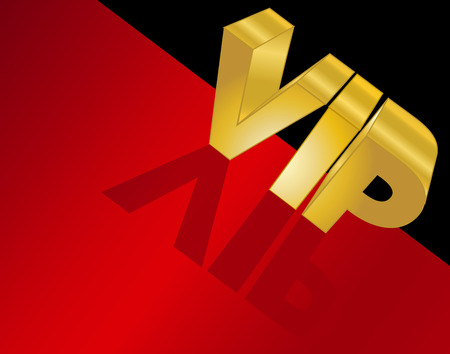 red carpet: Letters Spelling VIP on The Red Carpet Illustration