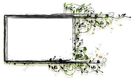 Grungy Floral Frame for Your Text or Pictures