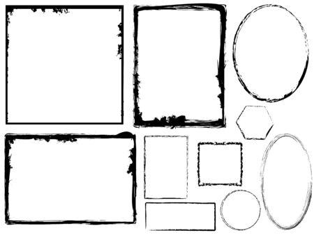 Variety of Grungy Frames Illustration
