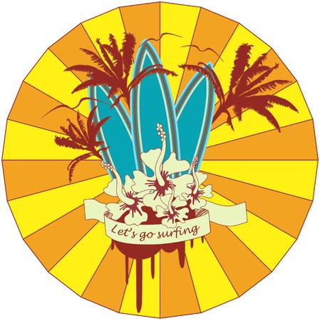 Surf Emblem Stock Vector - 6171583