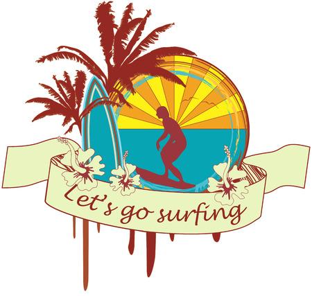 Surf Emblem Illustration