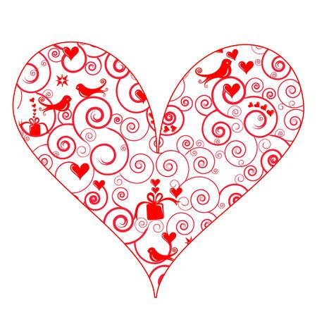 Cute Patterned Heart