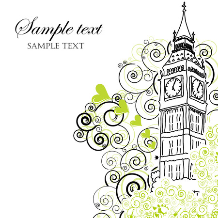 Big Ben Poster, Cover or Greeting card Vector