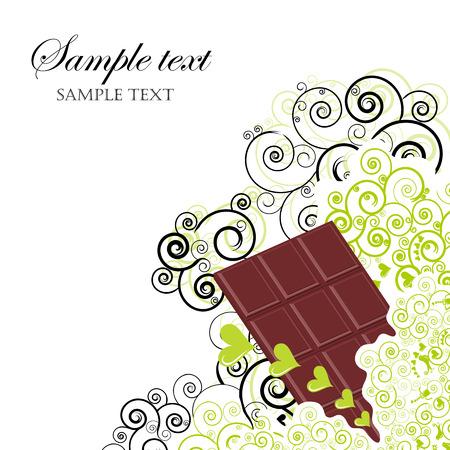 casse-cro�te: Illustration de chocolat, peut �tre utilis� comme un menu dessert