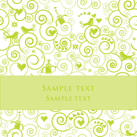 Greeting Card or Invitation for Parties, Weddings, Showers Stock Vector - 6226113