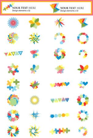 Set of 32 Design Elements