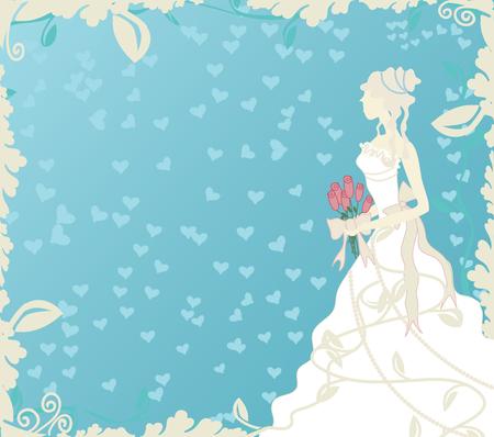 Ilustración de una novia