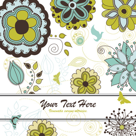 Floral and Nature Background for Your Text Stock Vector - 6485984