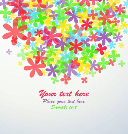 Modern style background with flowers and copy space.