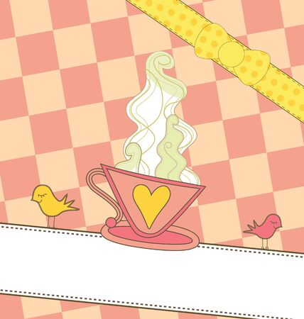nice smile: A sweet illustration of a coffee cup