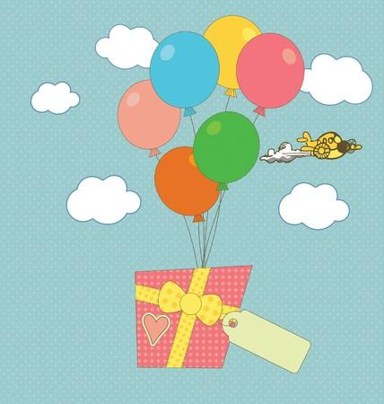 congratulatory: A sweet congratulatory card with a gift