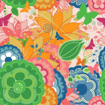 An unseamed colorful pattern that can be used for wallpapers and wrapping papers.