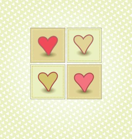 Sweet Valentines Day Card Illustration