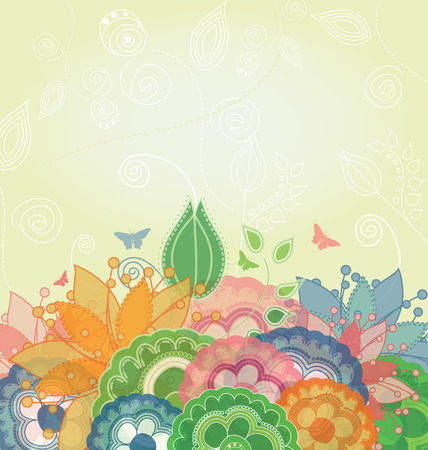 Nature Spring Background  Stock Vector - 8609893
