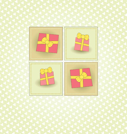 Cute Card with Pink Gifts