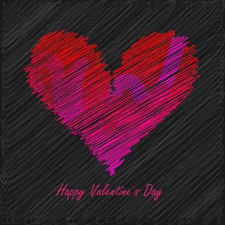 Stylish Valentines Day Card  Illustration