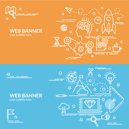 Template for website banner, flyer and poster.  イラスト・ベクター素材