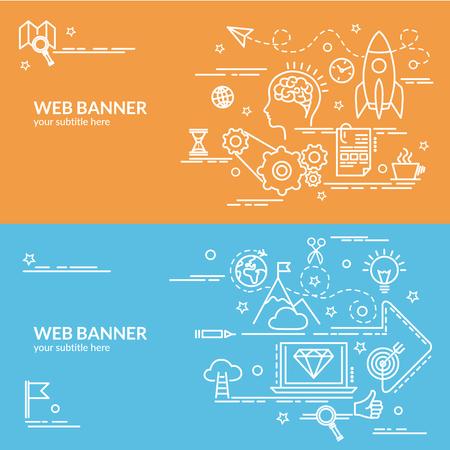 Template for website banner, flyer and poster.  Illustration