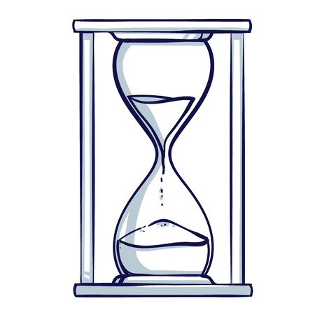 Hourglass icon. Hand drawn doodle cartoon vector illustration. Иллюстрация