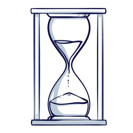 Hourglass icon. Hand drawn doodle cartoon vector illustration. Vettoriali
