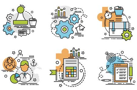 Kolorowe ikony dla strony internetowej, mobilnej, projektowania aplikacji i drukowania.