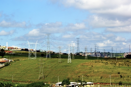 Tower high tension fixed in Taubate city