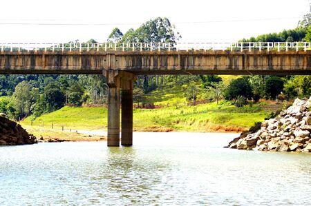 Bridge on river Natividade da Serra city