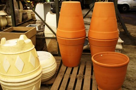 Big pot of ceramic fit ornaments plants