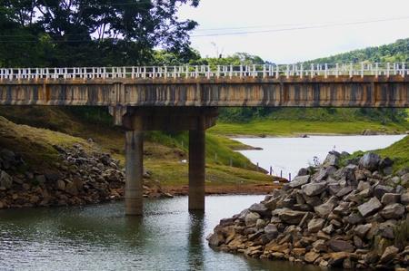 Panoramic view bridge over Natividade da Serra river