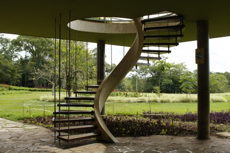 Builded in concret, this staircase give access home photo