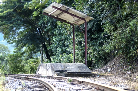 Stop train at way Piracuama Valley in contry Sao Paulo