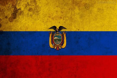 Flag of Ecuador waving in the wind