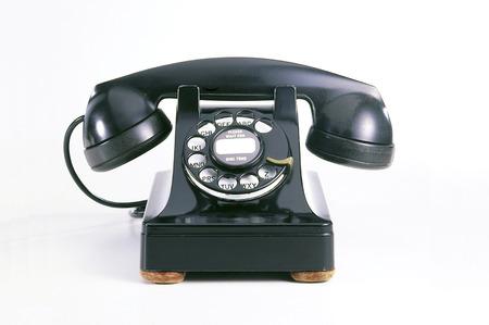 Vintage analog telephone old