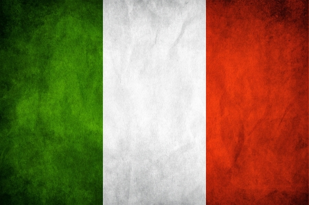 Italy flag on a grunge paper background
