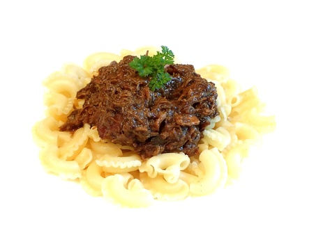 beef and noodles photo
