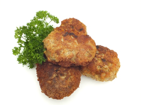 freshly fried meatballs photo