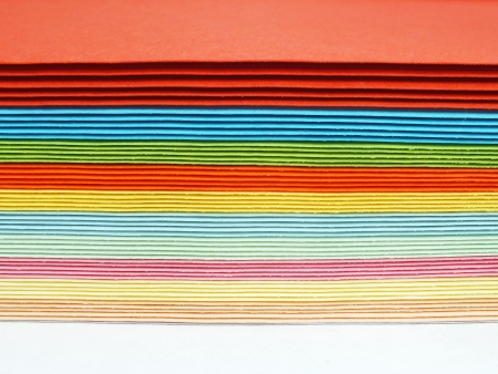colored cards in the stack photo