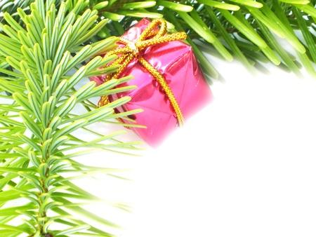 christmas decoration on white background to Stock Photo - 14640644