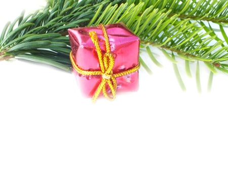 christmas decoration on white background to photo